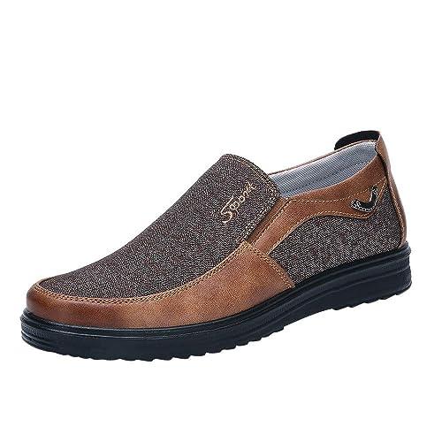 Sneakers Uomo ASHOP Autunno Moda retrò Business Casual Fondo Morbido  Confortevole Scarpe da Uomo Piatto Nero Marrone Cachi Grigio EU 40-48   Amazon.it  ... bfecb245f03
