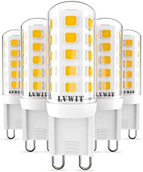 Lvwit Bombillas Led G9 3 5w Equivalente A 40w 400 Lumenes Color