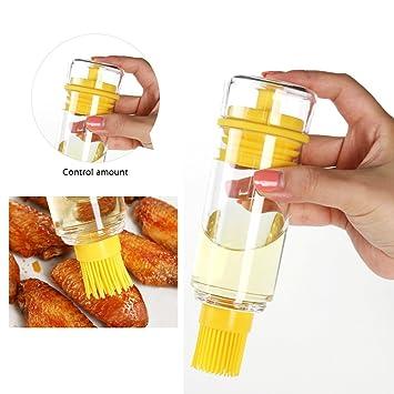 Better - Cepillo de aceite para botellas, dispensador de aceite de miel de silicona,
