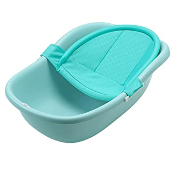 JIAO ES Bañera bebé recién Nacido Verde bañera bebé Puede Sentarse ...