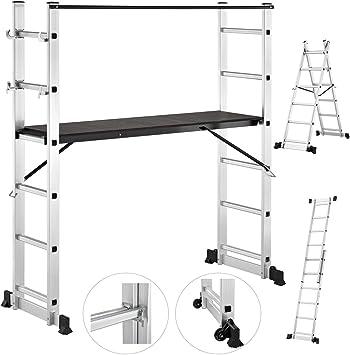Aluminio Andamio Andamios aluminio Multi/escalera Andamio Capacidad de hasta 150 kg: Amazon.es: Bricolaje y herramientas