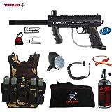 MAddog Tippmann 98 Custom Platinum Series Lieutenant HPA Tactical Camo Vest Paintball Gun Package