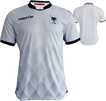 Macron Albania Away Jersey M16 fshf visitante. Camiseta de fútbol Blanco EM 2016 WM 2018 qualifikation, Unisex, Blanco, Medium: Amazon.es: Deportes y aire libre
