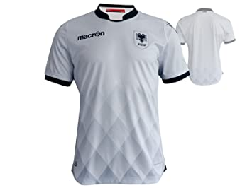Macron Albania Away Jersey M16 fshf visitante. Camiseta de fútbol Blanco EM 2016 WM 2018