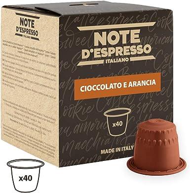 Note DEspresso - Cápsulas de chocolate a la naranja, 7 g (caja de 40 unidades) Exclusivamente Compatible con cafeteras Nespresso*: Amazon.es: Alimentación y bebidas