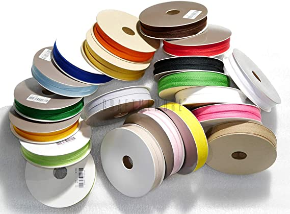 CRAFTMEmore 1//2 Inch Twill Tape Fabric Ribbons Webbing Herringbone Twill Bias Binding Tape for Clothes Sewing Craft Trim Lace 36 Yards MP11 Sky Blue