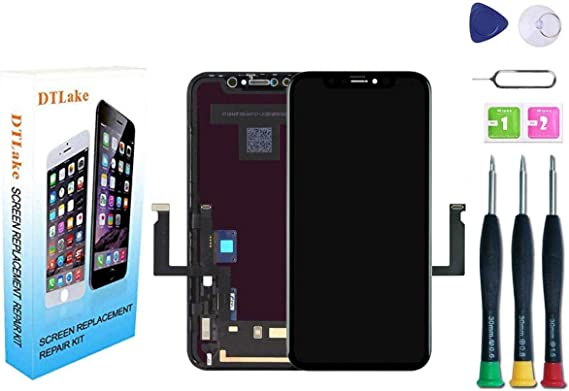 with Screen Protector and Repair Tools Model A1984, A2105, A2106, A2108 for iPhone XR Screen Replacement,LCD Display Touch Screen Assembly,Compatible with iPhone XR Screen Replacement 6.1 inch