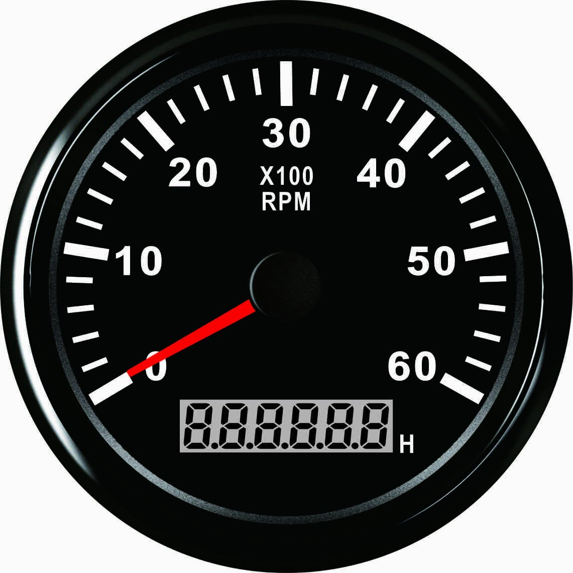 Contagiri rpm Tacho gauge con contatore orario per auto camion barca yacht 0 –  giri/min 85 mm con retroilluminazione ELING