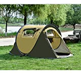 Meanhoo Outdoor campr Tent, 2-3 Persons Tent,no Need Construction - Waterproof Flysheet,Windproof Tent for Camping/Hiking/Climbing (A)