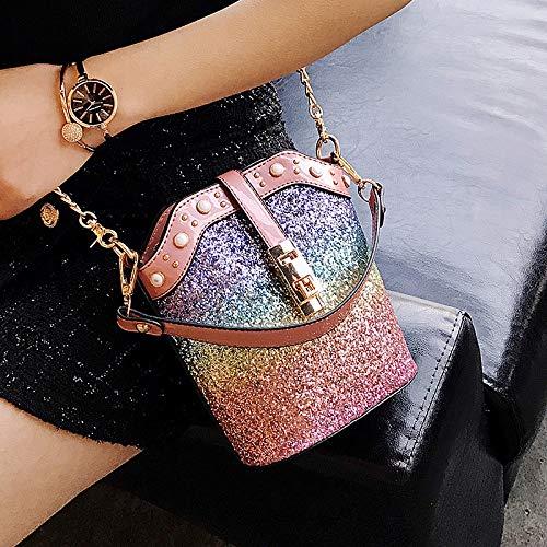 Sac Paquet Laser Paillettes Contraste Petit Lettres Tendance Jelly Sac carré Sac Couleur rétro Femme Transparent de Couture Impression xnvCaq1t8w
