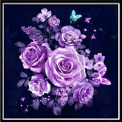 Amazon Com Tinffy Diy Embroidery Floral Rhinestone Painting Cross