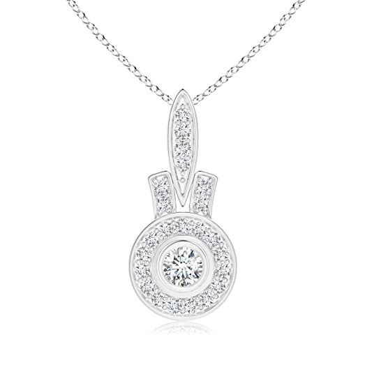 Angara Pave-Set Diamond Octagon Pendant