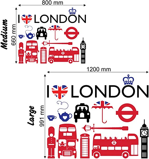 I Love London – Adhesivo decorativo para pared adhesivo decorativo ...