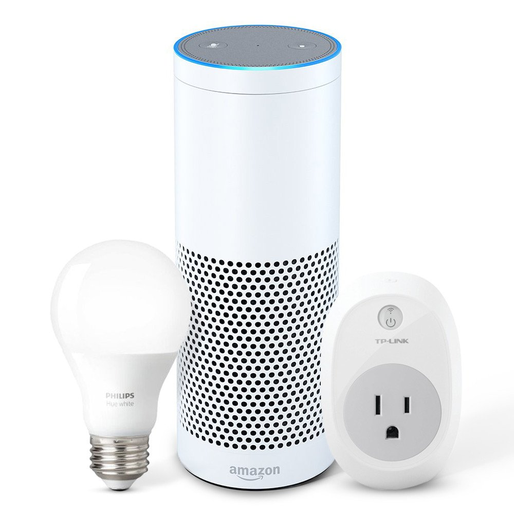 Echo Plus With Built In Hub White Philips Hue Bulb Smart Jack Wiring Tp Link Plug Amazon Devices