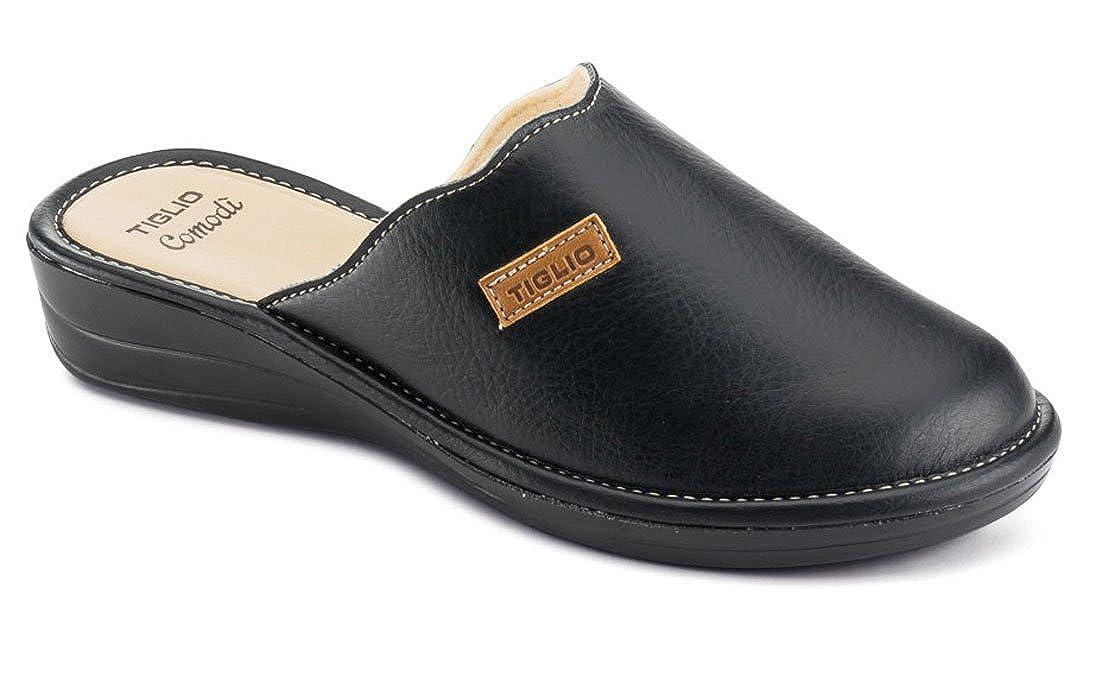 tiglio Pantofole Donna 1606 Nero Nero Nero - aa5c93