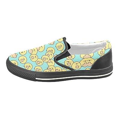 Yellow Chicks Green Canvas Slip-on Loafer For Men