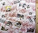 猫のダヤン 4点(体操服袋・給食袋・弁当袋・コップ袋)が作れる材料セット R-46 (生成 赤茶)#5 レシピ付き(ロープの色はベージュとなります)<初心者でも簡単なキャラクター生地セットです!>の商品画像