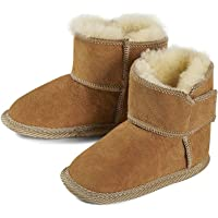 RugMyBaby Wool Slippers for Kids Shoes Brown Boy Girl Slippers Baby Slippers