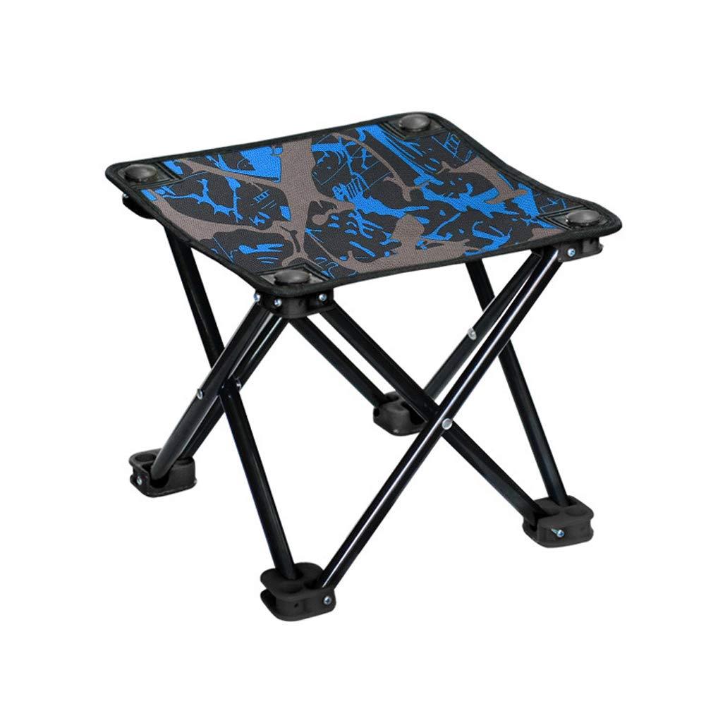 Mini Folding Chair, Portable Camping Stool, Children's Light Chair-camouflageblue