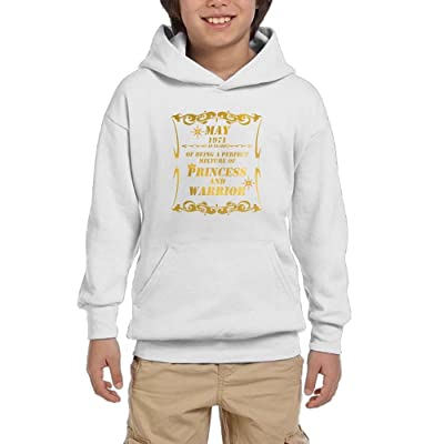1May 1971 A Perfect Mixture Of Princess And Warrior Youth Pullover Hoodies Fashion Pockets Sweaters