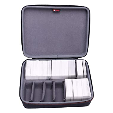 XANAD Game Card Case for Cards Against Humanity - Fits for 1600+ Cards with 6 Moveable Dividers (2 Row)