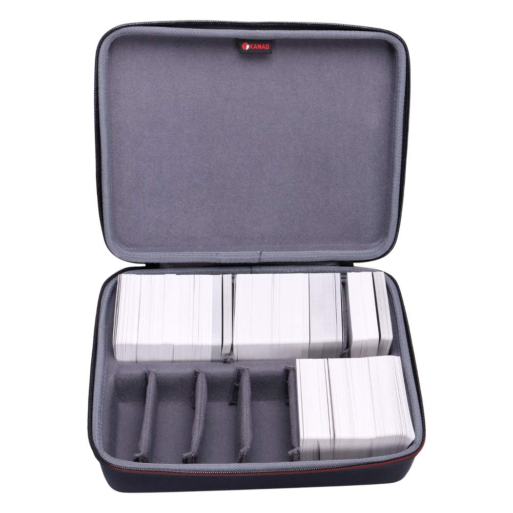 XANAD Game Card Case for Cards Against Humanity Fits for 1600 or More Cards with 6 Moveable Dividers 2 Row