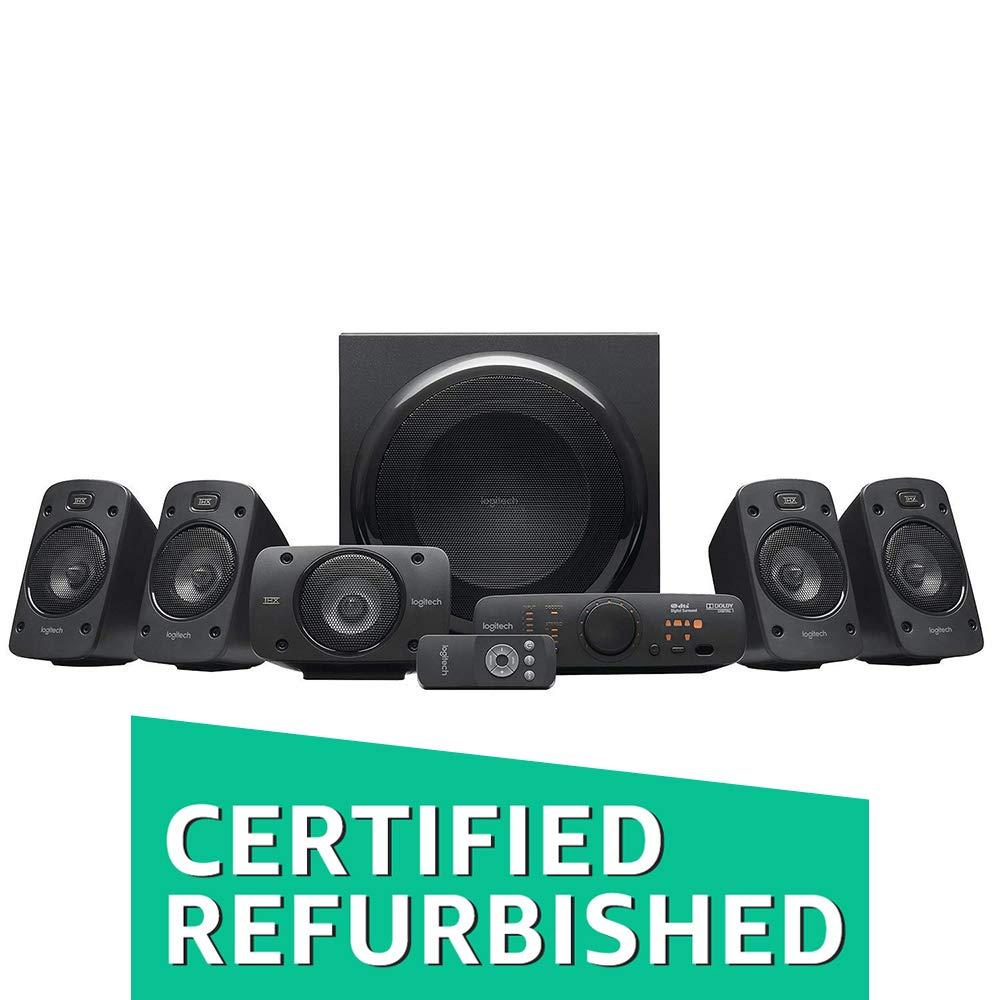 (Renewed) Logitech Z906 5.1 Channel Speaker System (Black)