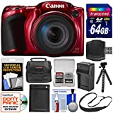 Canon PowerShot SX420 is Wi-Fi Digital Camera (Red) 64GB Card + Case + Battery & Charger + Flex Tripod + Sling Strap + Kit
