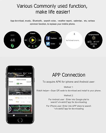 Amazon com: WANGYONGQI Upgraded Smart Watch with SIM Card