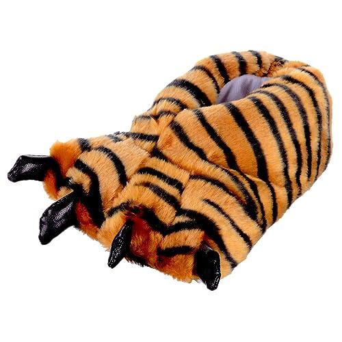 Novedad Para Pantuflas Kids Tiger Cálido Stock Xs Soft Feet Rj543AL