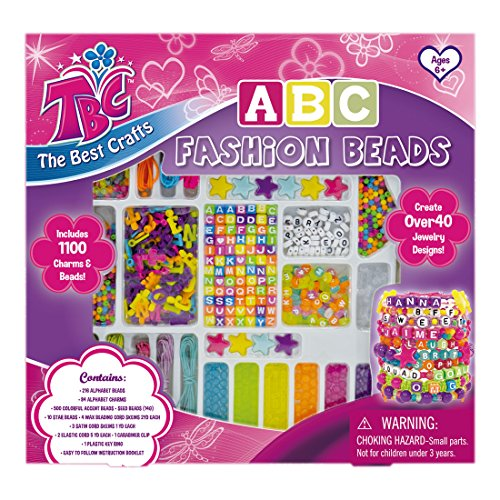 Word Beads Set - TBC ABC Beads, Beads for Kids, Beads for Jewelry Making, Create Your Own Bracelets, Key Chains and More with Your Name and Favorate Words on it.
