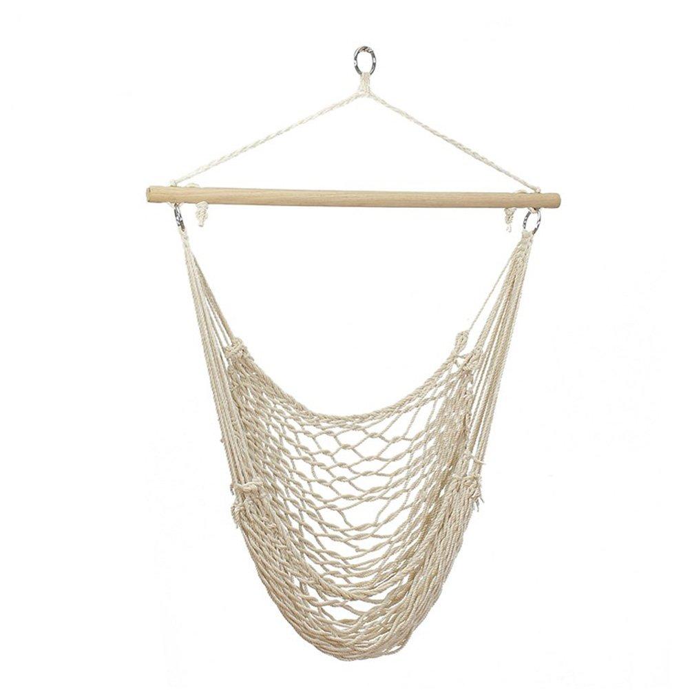 Wa8 a Aufhängen Hängematte Stuhl Baumwolle Seil Net Swing Hängesitze, 265 Pfund Kapazität