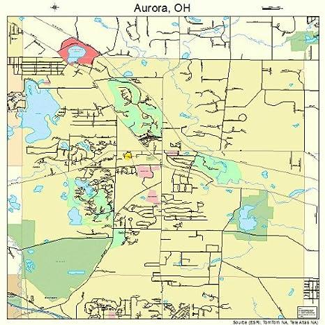 Amazon Com Large Street Road Map Of Aurora Ohio Oh Printed