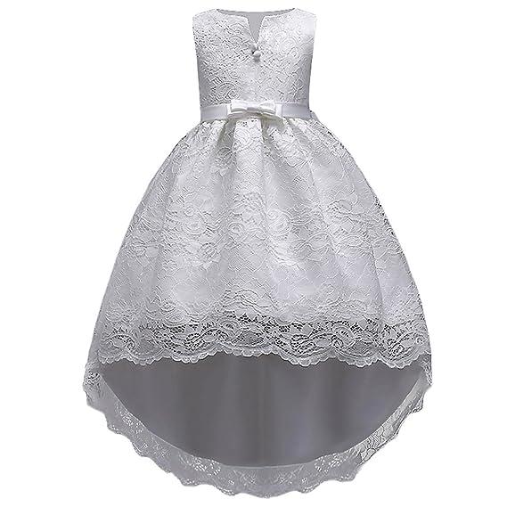 d1b5a487e38d7 HUAANIUE Robe de Fête Élégance Réduction Fille Mariage Cérémonie Soirée  Demoiselle d Honneur Taille Princesse