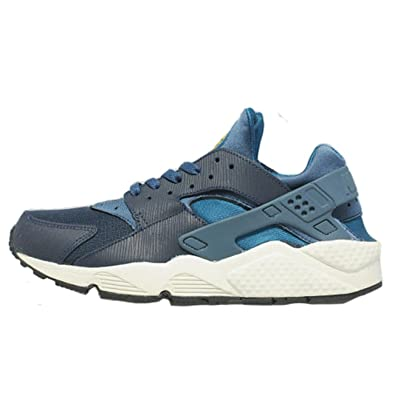 online store 1ee69 45d75 Nike Mens Air Huarache New Slate Green Abyss Navy Trainer Size 5.5 UK