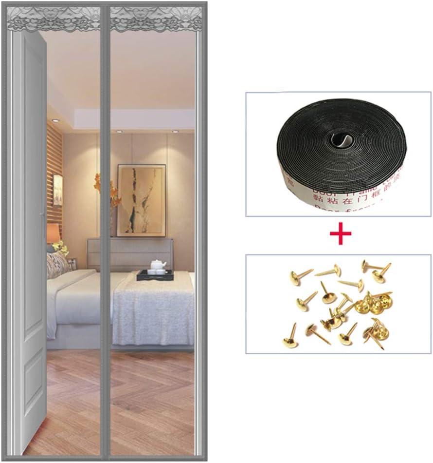 FOTEE Cortina mosquitera para puerta con imán, manos libres, cortina de malla para puerta corrediza: Amazon.es: Bricolaje y herramientas