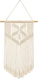 "Samhita Macrame Wall Hanging, Macrame Tapestry, Indoor Hanging, Wall Decor, Wall Pediment, Decorations for Home, Kitchen, Bedroom or Apartment (18"" X 12"" inches)"