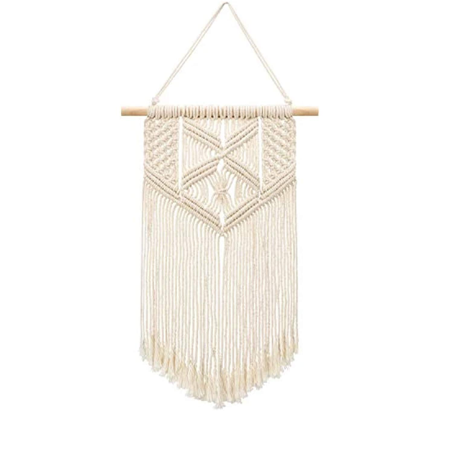 """Samhita Macrame wall hanging, Macrame Tapestry, Indoor Hanging, Wall Decor, Wall Pediment, Decorations for Home, Kitchen, Bedroom or Apartment (18"""" X 12"""" inches)"""
