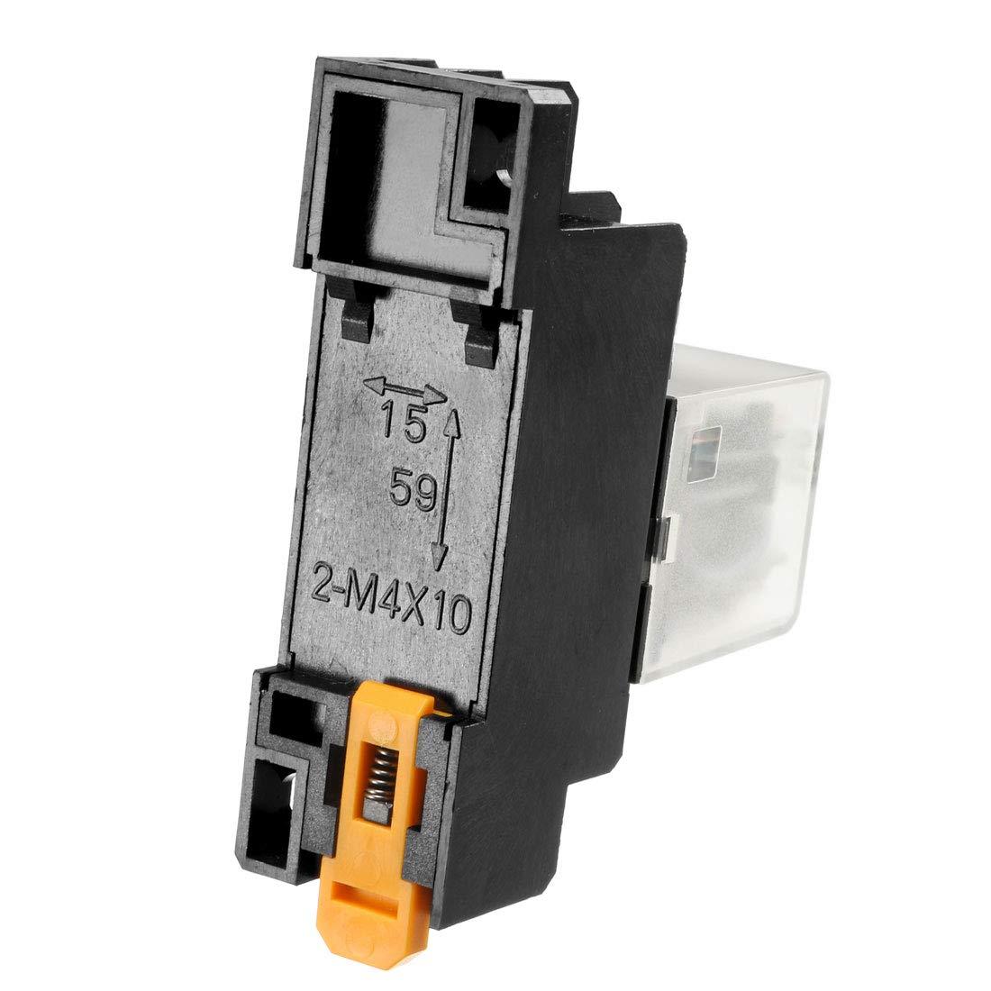 sourcing map AC 380V bobina indicatore luminoso rosso 8 pin DPDT elettromagnetico multiuso rel/è alimentazione Base presa JQX-13F