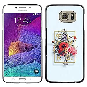 LECELL--Funda protectora / Cubierta / Piel For Samsung Galaxy S6 SM-G920 -- Composition Bouquet Painting Art --