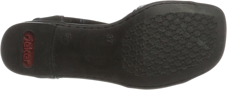 Rieker Damen 62678 Offene Sandalen mit Keilabsatz