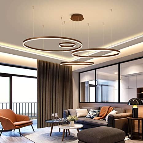 Weiß/Braun Minimalism Moderne LED Pendelleuchten für ...