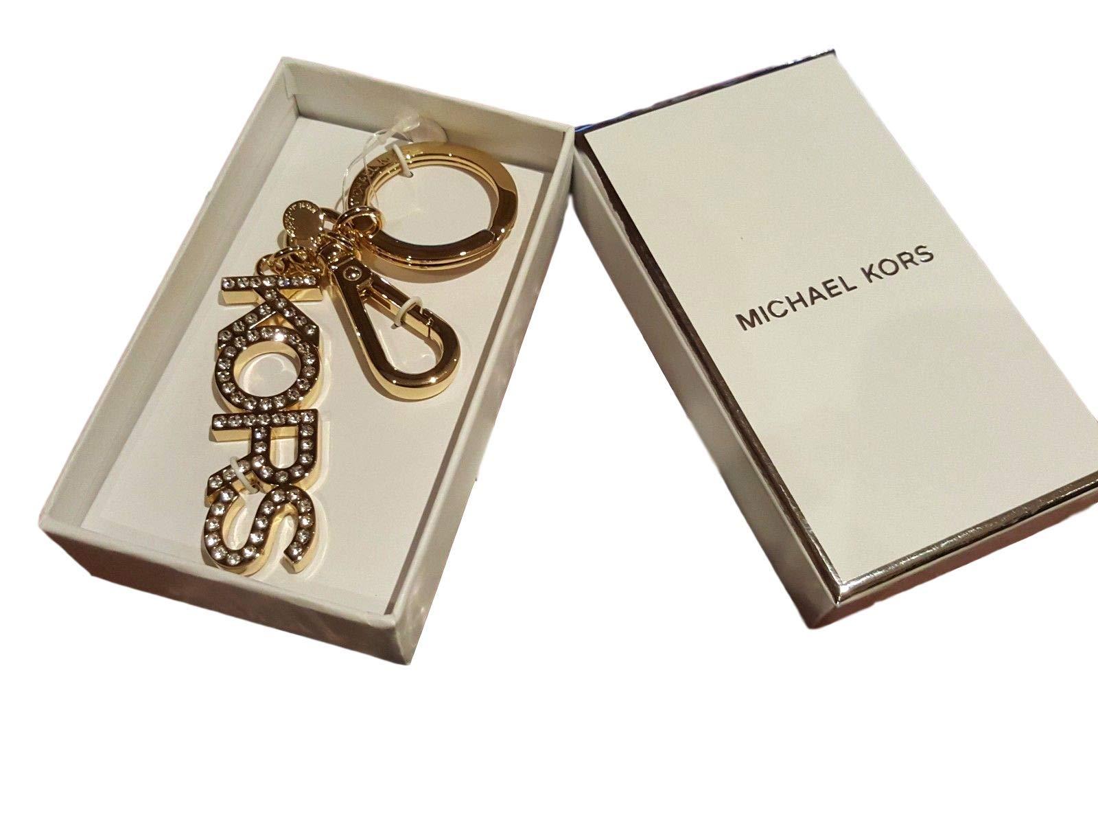 Michael Kors # KORS Bag Swag Key Charm Gold/Crystal Keychain