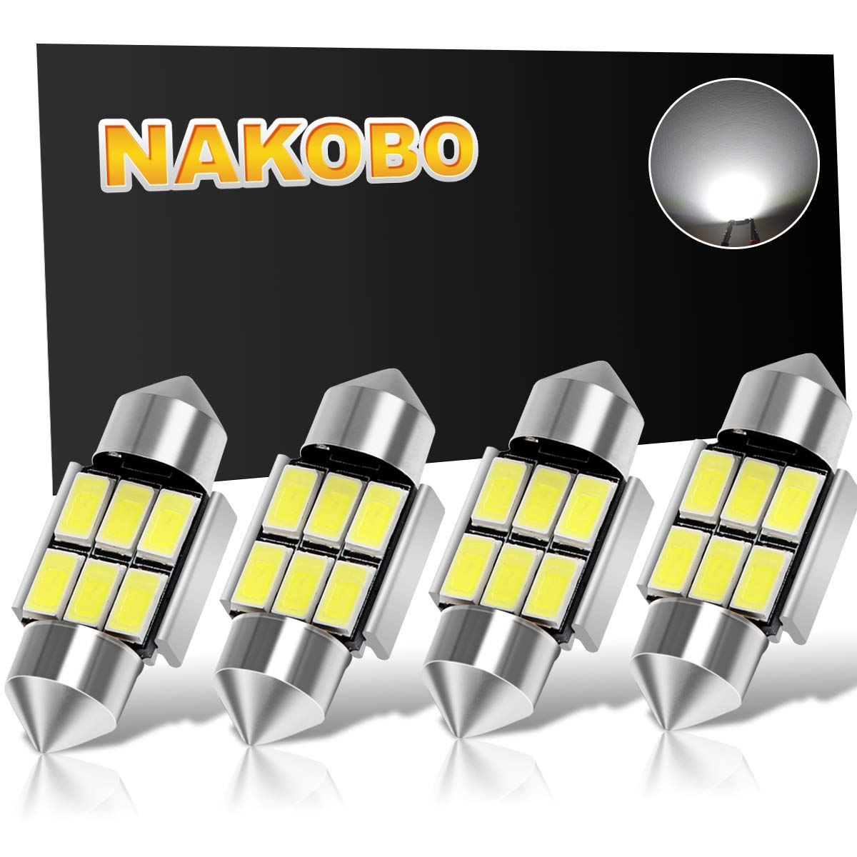 NAKOBO [Pack of 4] Festoon 31mm (1.25\