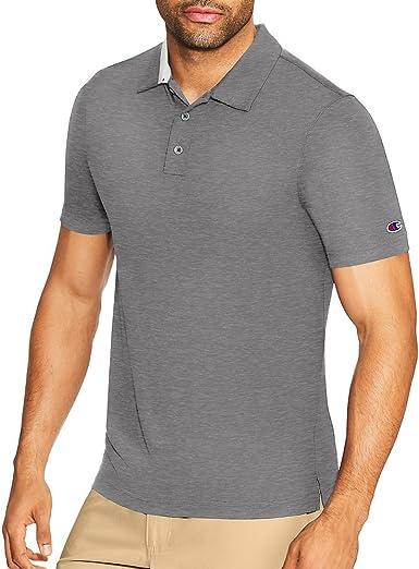 Champion Mens Heather Performance Golf Polo Shirt: Amazon.es ...