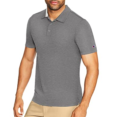 Champion Mens Heather Performance Golf Polo Shirt: Amazon.es ...