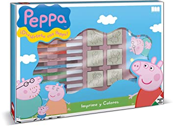 Peppa Pig Set Créatif Tampons Feutres Carnet à Dessin Règle
