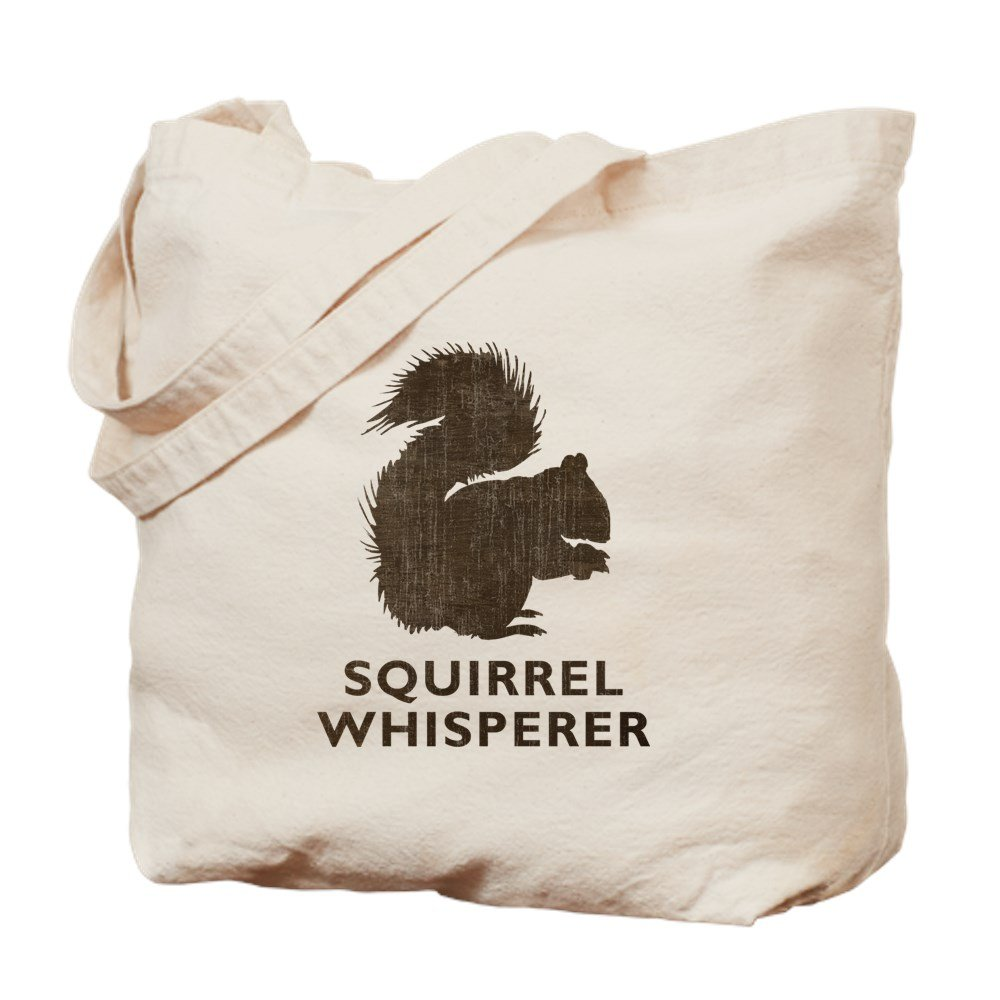 CafePress – Vintage Squirrel Whisperer – ナチュラルキャンバストートバッグ、布ショッピングバッグ M ベージュ 06305976076893C B073QSTK8C MM