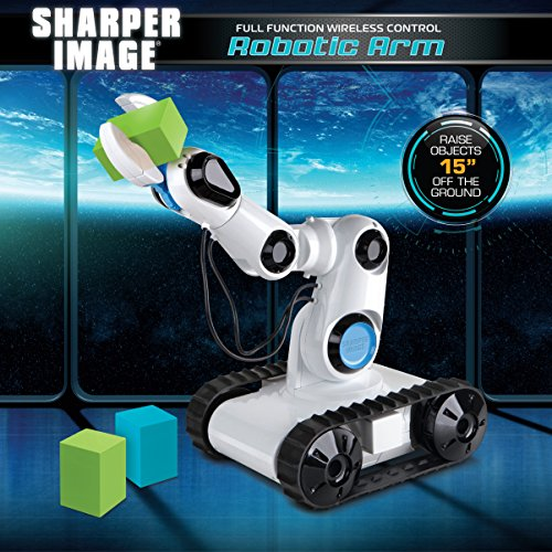 Sharper Image Full Function Wireless Control Robotic Arm Toy with Built-in LED Spotlight Jumbo Claw Grip & Tank Tread Wheels, 2.4GHz Long Range Battery-Operated RC, Best STEM Gift for Boys & Girls by Sharper Image (Image #3)