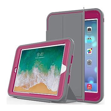 Funda para Nuevo iPad 9.7 Pulgada 2018/2017 - Resistente a Prueba de Golpes Completo Estuche Protector con Cubierta de Inteligente Pantalla ...